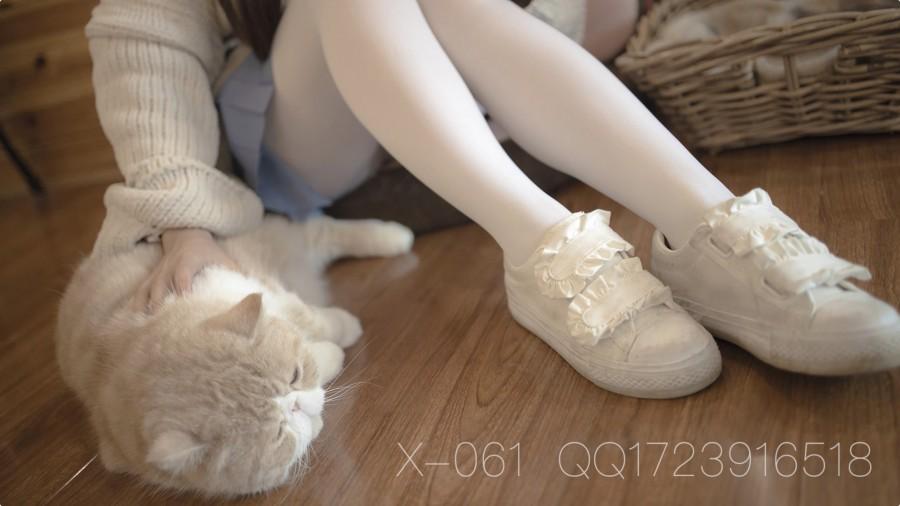 森萝财团 视频 X-061 80D薄白丝