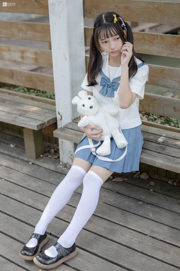 森萝财团 JKFUN-025 默陌&Aika 80D白丝过膝袜