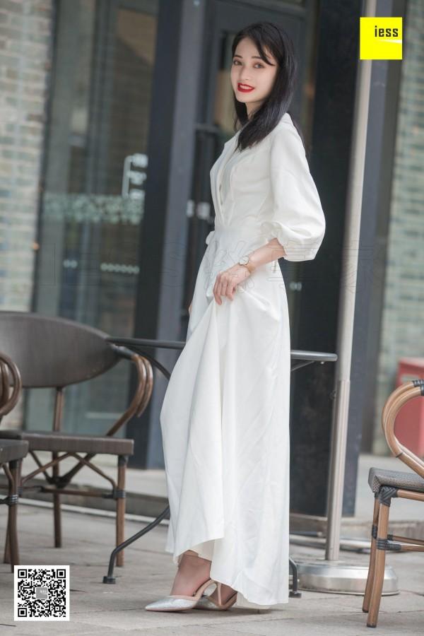 丝享家394 《烈焰红唇白长裙》